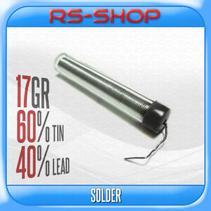 Solder-Wire-Solding-Iron-Tube-Dispenser-0-7mm-17g-60-40-Tin-Lead