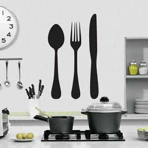 image is loading knife fork and spoon kitchen wall art design - Wall Art Design