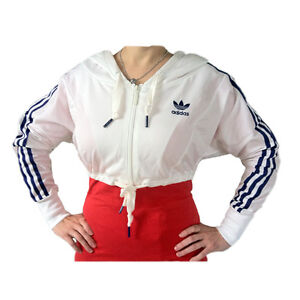 Adidas-D-Sleek-Capucha-TT-Chaqueta-De-Deporte-Talla-34-40-Mujer-blanco-azul-ESS