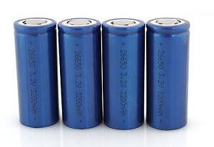 Bioenno-Power-LiFePO4-26650-3200mAh-3-2V-Cells-PACK-OF-4