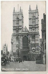 Westminster-Abbey-Photo-Postcard-1915-London