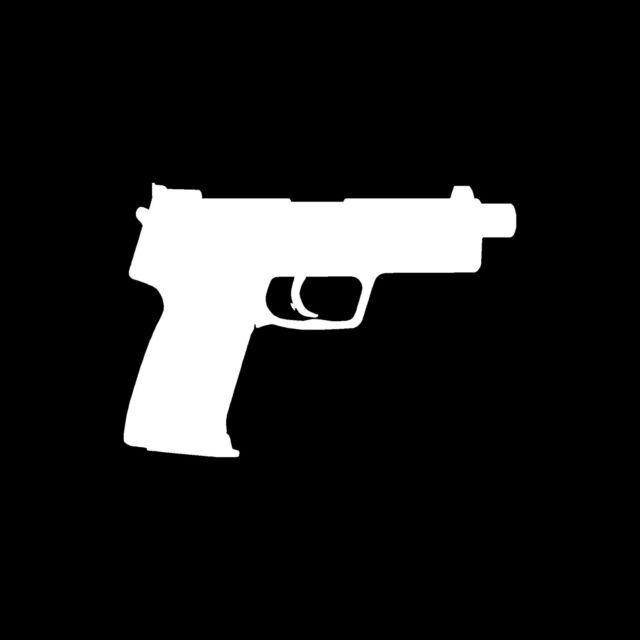 TACTICAL HANDGUN PISTOL Sticker .40 cal 9mm .45 Vinyl Decal Gun Arms Ammo Weapon