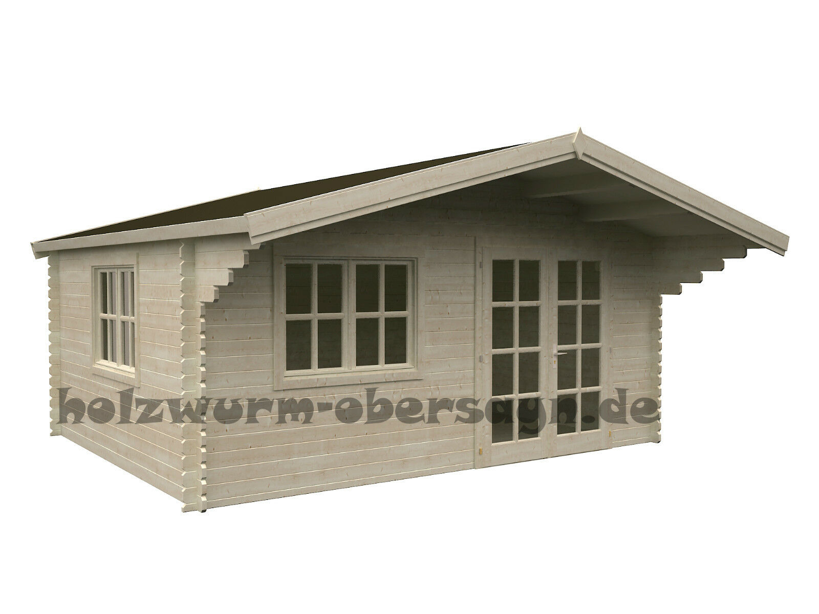 34 mm gartenhaus baily 6 2 ger tehaus blockhaus holz 500x400 cm anbauschuppen ebay. Black Bedroom Furniture Sets. Home Design Ideas