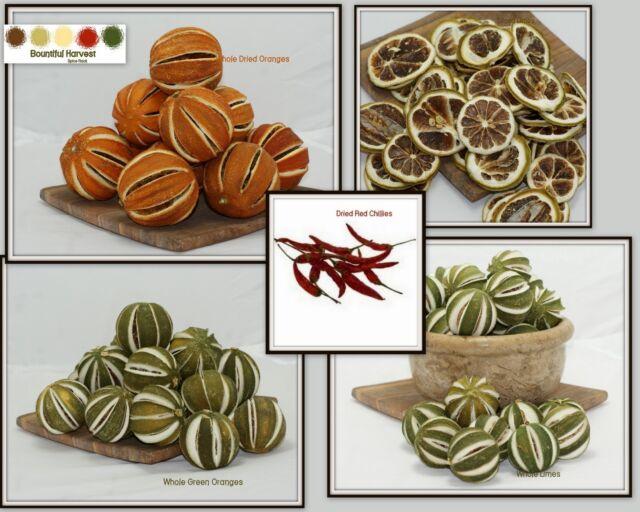 Pot Pourri Decorative Dried Fruits - Whole & Sliced Oranges Limes Apples Chilli