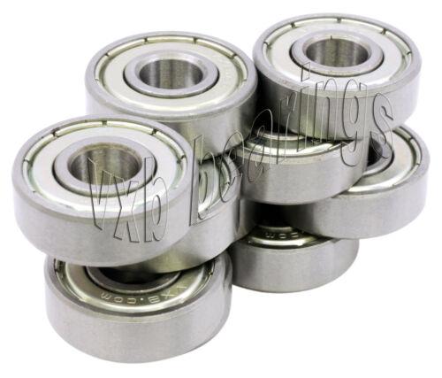 """10 Ball Bearing R6 ZZ Z 2Z 3//8/""""x 7//8/""""x 9//32/"""" Shielded"""