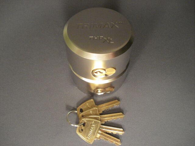 "Trimax 2 Pack Keyed Alike ""Hockey Puck"" Enclosed Cargo Trailer Door Lock Padlock"