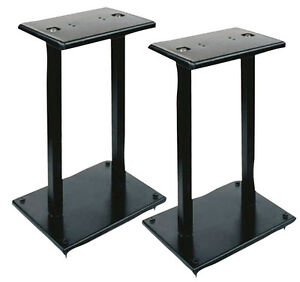 PYLE-PSTND13-NEW-HEAVY-DUTY-DOUBLE-SUPPORT-BOOKSHELF-SPEAKER-STAND-ONE-PAIR