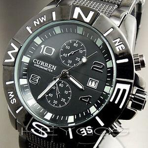 CLOCK-BLACK-HOURS-DATE-DIAL-SPORT-MEN-MILITARY-ARMY-STEEL-WRIST-WATCH-WV005