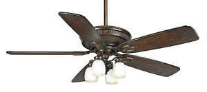 Casablanca 60 heritage brushed cocoa wet rated outdoor for Casablanca dc motor ceiling fans