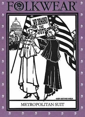 Folkwear 1914 Jacket & Skirt Metropolitan Suit Sewing Pattern  268 S-3XL WWI era