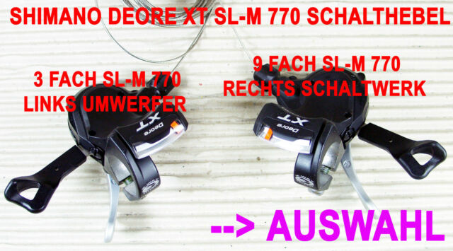 SHIMANO DEORE XT SL-M 770 SCHALTHEBEL SHIFTER - AUSWAHL -> 3 fach  ODER  9 fach