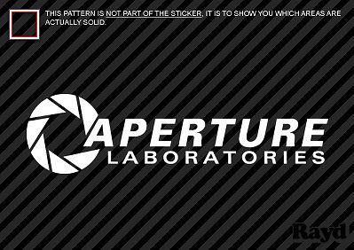 (2x) Aperture Science Laboratories Sticker Die Cut Decal vinyl Portal