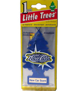 little trees hanging car home air freshener new car scent 24 packs ebay. Black Bedroom Furniture Sets. Home Design Ideas