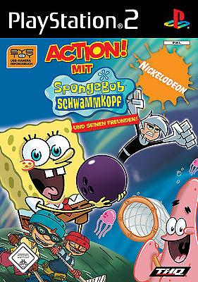 Action mit SpongeBob und seinen Freunden mit Anleitung (PS2) - DVD wie Neu