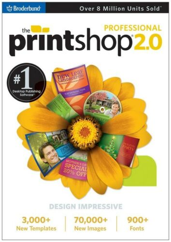 *NEW,SEALED* THE PRINT SHOP 2.0  PROFESSIONAL pc, 2009