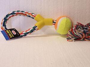 Large Dog Toys_Tennis Ball Tug Rope