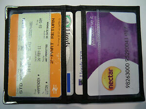 Soft-leather-Travel-Pass-Oyster-Credit-Card-Holder-Wallet-Black