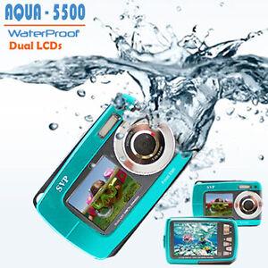 SVP-AQUA-5500-BLUE-18MP-UNDERWATER-DIGITAL-CAMERA-VIDEO-W-DUAL-LCDs-WATERPROOF