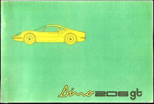 DINO-206-GT-MANUALE-CATALOGO-PARTI-DI-RICAMBIO-MANUAL-SPARE-PARTS-CATALOG-1969