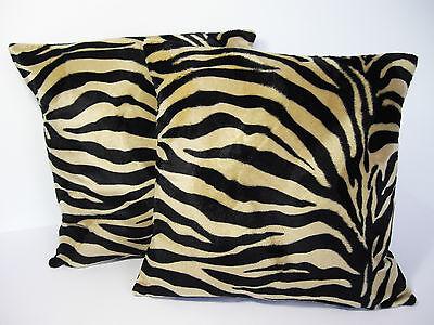 Vtg/Retro 60s Animal Print Cushion Cover Caramel Zebra