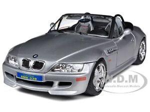 bmw z3 m roadster silver 1 18 diecast car model by bburago. Black Bedroom Furniture Sets. Home Design Ideas