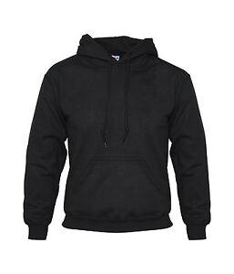 New-Plain-Blank-Hoodie-Black-Pullover-Hooded-Sweat-Hoody-Sweatshirt-S-M-L-XL-XXL