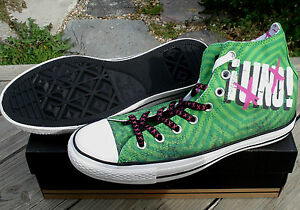New-Converse-GREEN-DAY-UNO-All-Star-Hi-Chuck-Taylor-Shoes-High-Canvas-Trainers