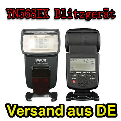 Yongnuo YN-568EX YN568 Aufsteckblitz Blitz i-TTL HSS 1/8000 Speedlite für Nikon