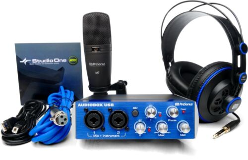 PreSonus AudioBox Studio USB Recording Package & Software, Headpones, Microphone