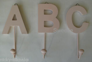 image is loading vintage wooden pink abc letter hanging robe coat