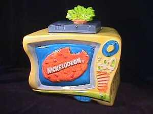 Treasure-Craft-Nickelodeon-Nick-at-Nite-Television-Advertising-Cookie-Jar-1993