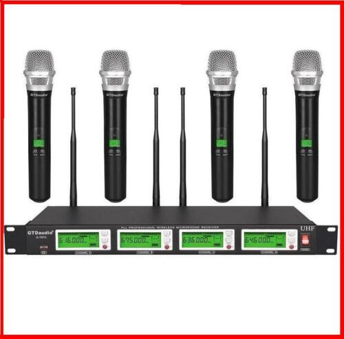 GTD Audio 4x800 Channel UHF Diversity Wireless Handheld Microphone Mic System