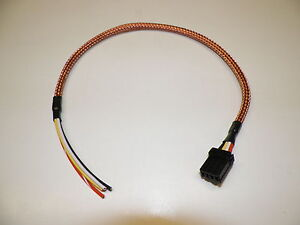 copper wire harness harley 12x18 oem 4 wire custom copper braided head light ...