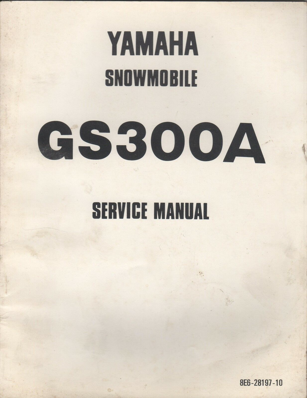 1977 YAMAHA SNOWMOBILE GS300A SERVICE MANUAL