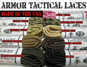 Paracord-Laces-Armor-Laces-Boot-Laces-Paracord-FREE-SHIPPING-NEW