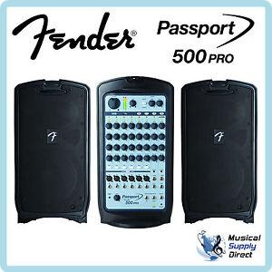 Fender-Passport-500-Pro-Portable-PA-System-MINT
