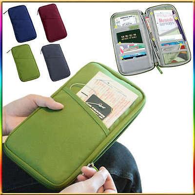 New Travel Passport Credit ID Card Cash Holder Organizer Wallet Purse Case Bag