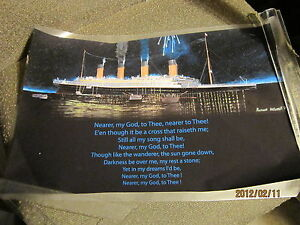 DIGITAL LAMINATED PRINT OF THE TITANIC SINKING 11 X 17 INCHES, COLLECTIBLE!
