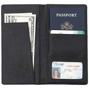 Embassy-Solid-Genuine-Leather-Wallet-Passport-Cover-Classic-Light-Weight-3pc-Lot