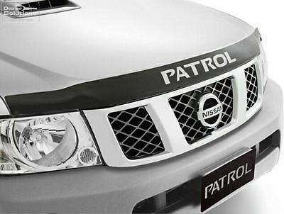 Nissan GU Patrol (Y61) GENUINE Bonnet Protector (Smoked) Part: NIF5166-VD100AU