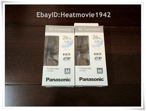 2-pairs-of-Panasonic-YT-EW3D3MC-EW3D3MW-Black-HDTV-Rechargeable-3D-Glasses-EN007