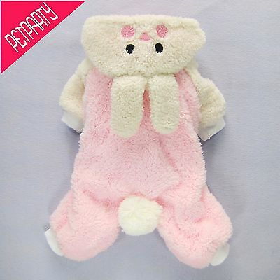 High Quality Dog Clothes Pink Thick Soft Coat Costumes Jumpsuit Free shipping