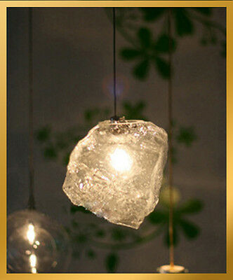 1 Light - Modern Ice Cube Rock Light Pendant Lamp Ceiling Hanging Chandelier