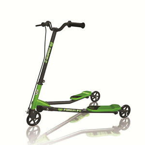 Y-Volution-YFliker-F1-Scooter-Green-and-Black