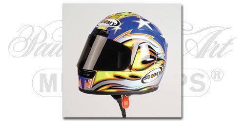 Suomy helmet Ben Bostrom 2001 1 2 Ducati SBK   WSB Laguna Seca