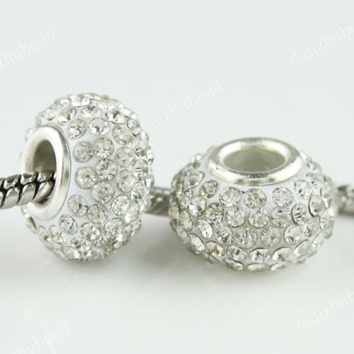 WHOLESALE AUSTRIAN CRYSTAL SILVER FINDINGS EUROPEAN LOOSE CHARMS BEADS FINDINGS