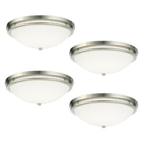 Brushed-Nickel-14-034-Flush-Ceiling-Fixture-4-Pack