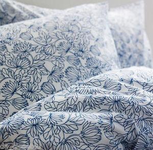 Ikea-BLADVASS-Duvet-Quilt-cover-and-pillowcases-white-blue-Full-Queen-NIP