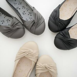 BN-Womens-Ballet-FLATS-BALLERINA-Casual-Work-Shoes-Black-Beige-Grey