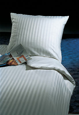 Bettwäsche 20 mm Streifen 100% Baumwolle mit Reißverschluß Kissenbezug Bettbezug